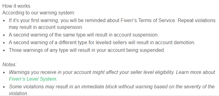 Fiverr account disabled for no reason